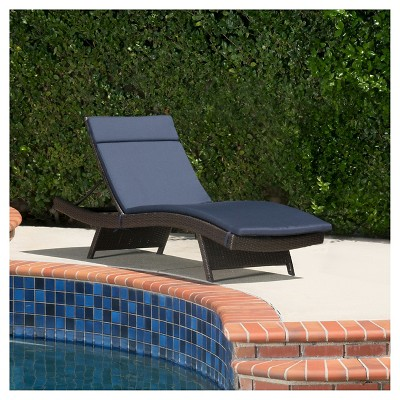 Salem Brown Wicker Adjustable Chaise Lounge - Christopher Knight Home
