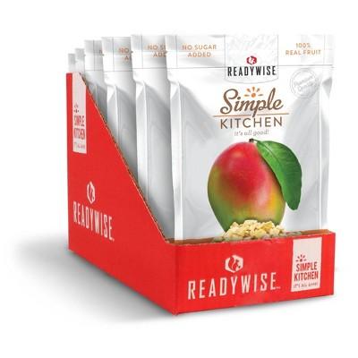 READYWISE Gluten Free Simple Kitchen Mango Freeze-Dried Fruit - 6.3oz/6ct