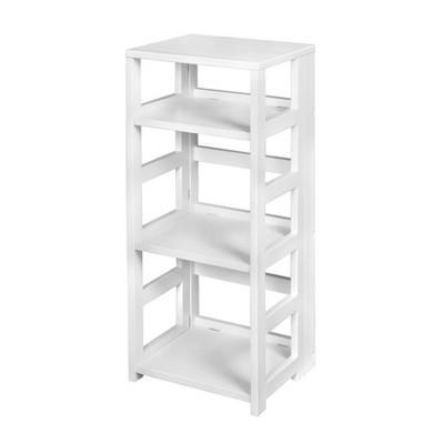"34"" Cakewalk High Square Folding Bookcase White - Regency"