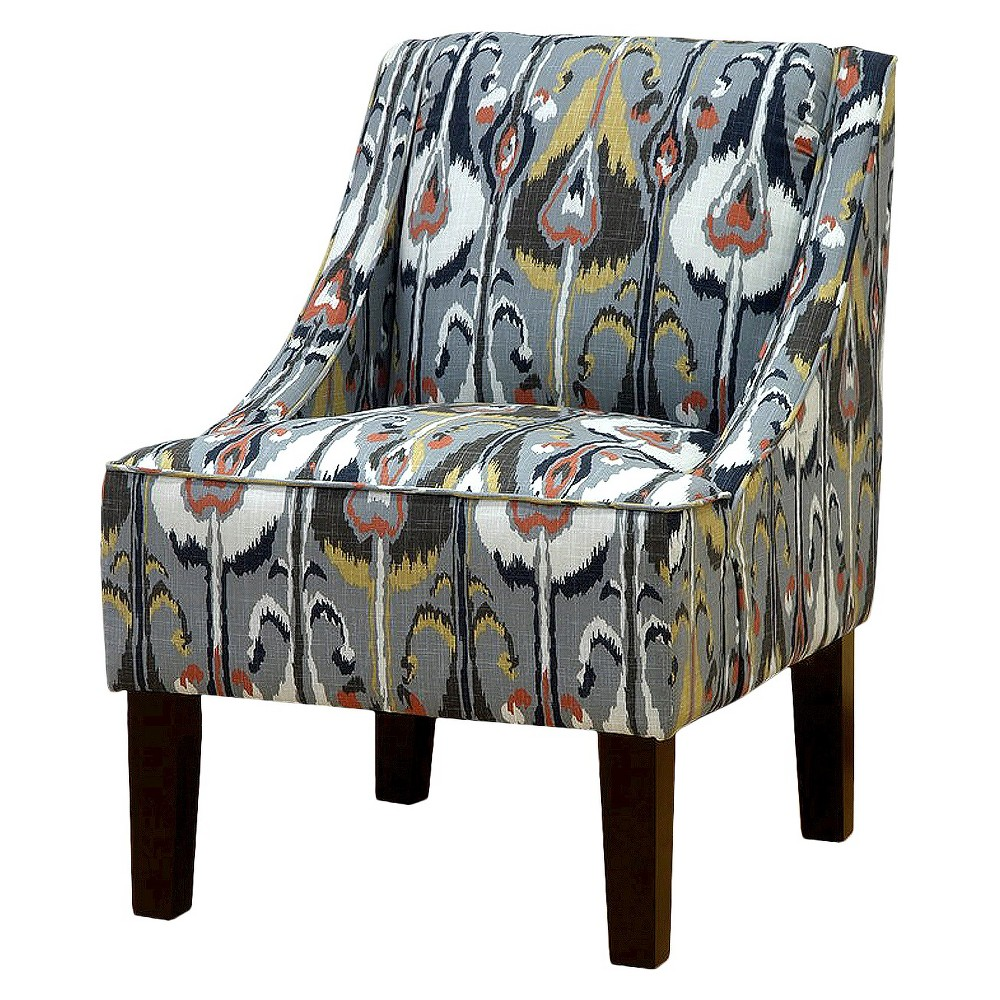 Hudson Swoop Chair - Prints - Threshold, Surreal Bands Greystone