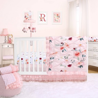 Rose Crib Bedding Set by The Peanutshell - 3pc