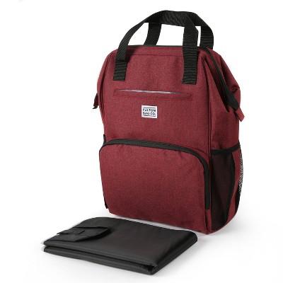 Fulton Bag Co.Wide Mouth Backpack Diaper Bag - Tibetan Red