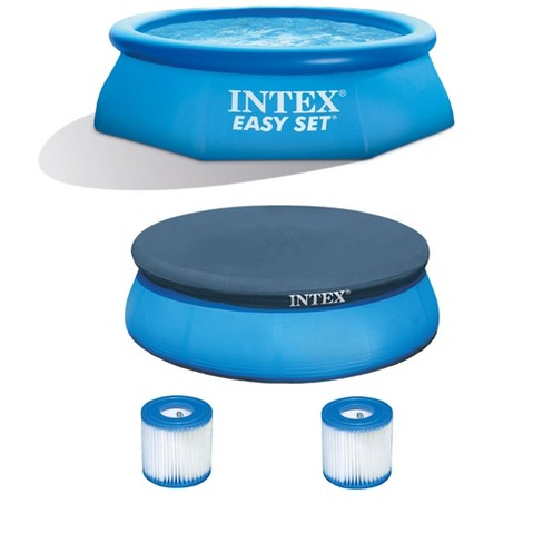 Intex 8'x2.5' Pool w/ Filter Pump, Filter Cartridge Replacement, & 8' Pool Cover - image 1 of 4