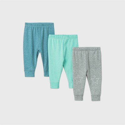 Baby Boys' Starry Slumber Pants - Cloud Island™ Green 0-3M