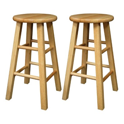 Winsome Wood 29  Barstool - Natural (Set of 2)