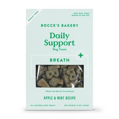 Bocce's Bakery Breath Aid Functional Dental Dog Treats - 12oz