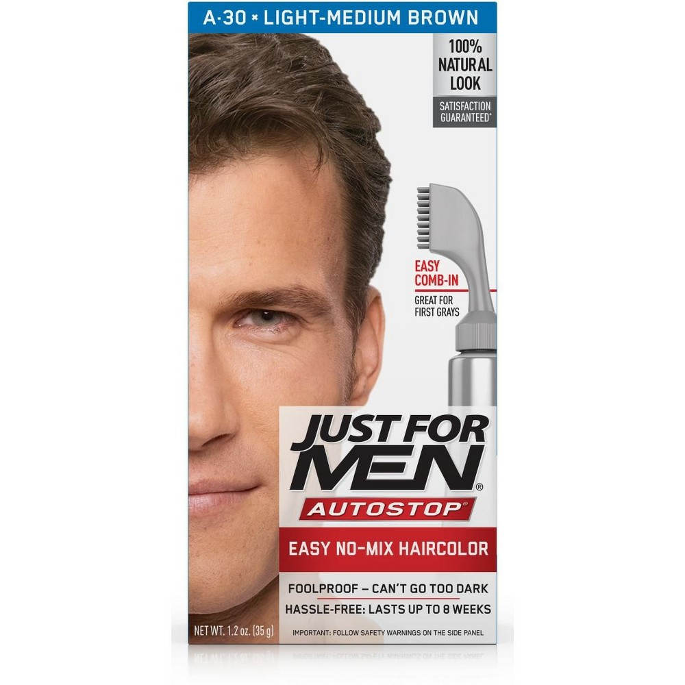 Image of Just For Men AutoStop Light-Med Brown A-30, Light-Medium Brown A-30