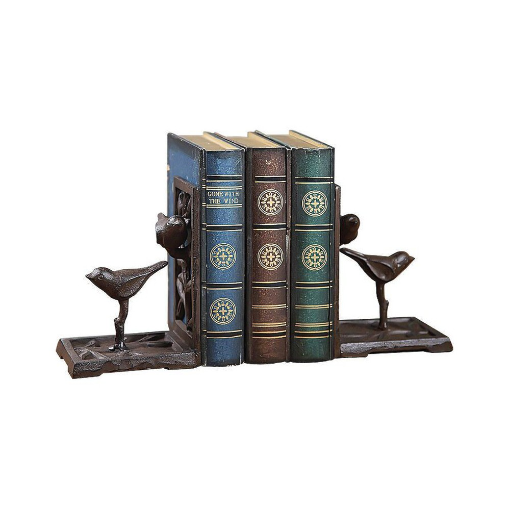 Image of Cast Iron Bird Bookends Brown - 3R Studios