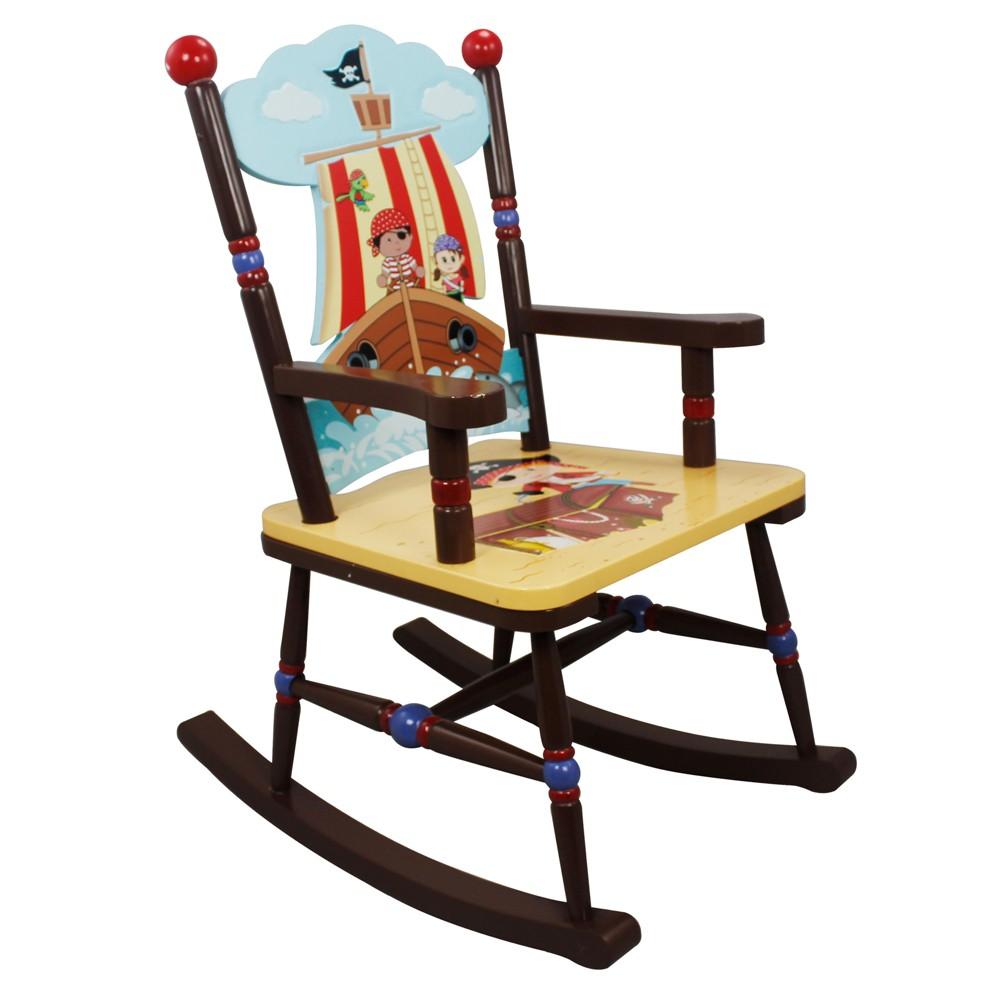 Image of Fantasy Fields Pirates Island Rocking Chair Wood - Teamson
