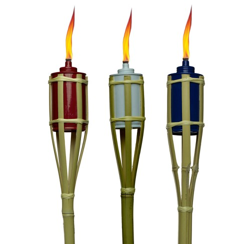 "30"" Garden Torches Red/White/Blue 1pc- TIKI - image 1 of 1"