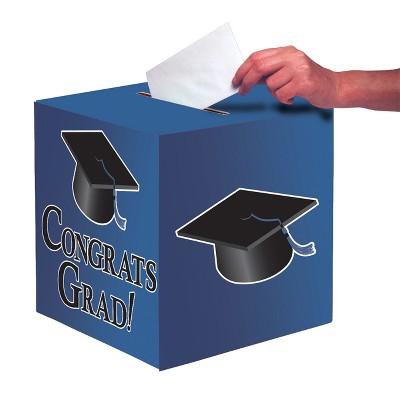 Blue Graduation Card Box