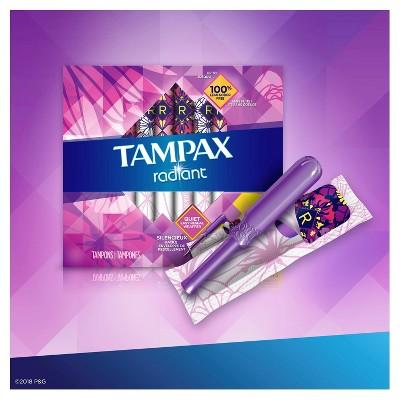 Tampax Radiant Tampons Regular Absorbency - Unscented - 28ct : Target