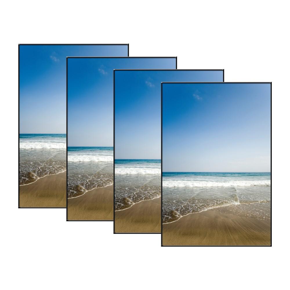 """Image of """"4"""""""" x 6"""""""" Set of 4 Format Picture Frame Set Black - MCS"""""""