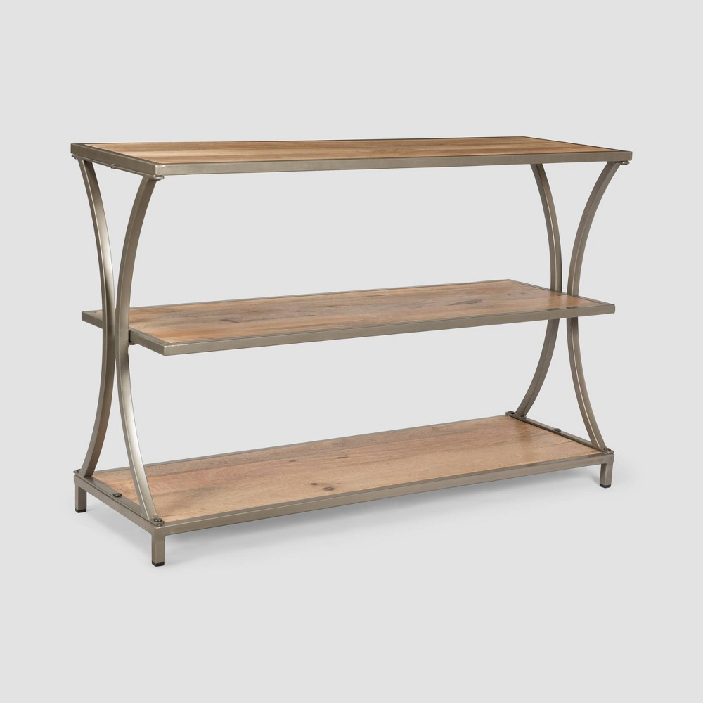 Image of Kimball Modern Industrial Console Table Natural - Christopher Knight Home, Brown