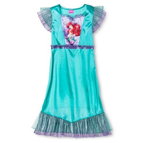 f79dfd6b17 Girls  Little Mermaid Ariel Nightgown - Green M   Target