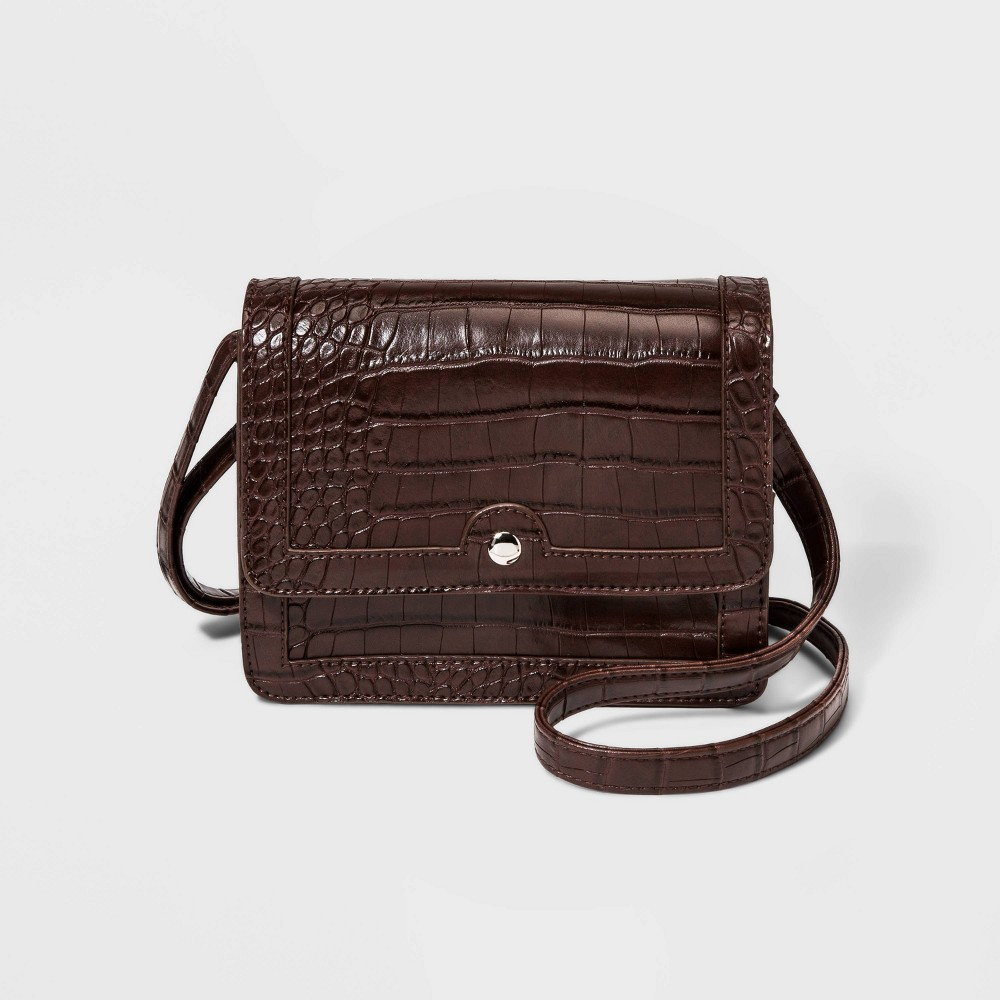 Nyomi Flap Crossbody Bag - Wild Fable Brown, Women's, Size: Small