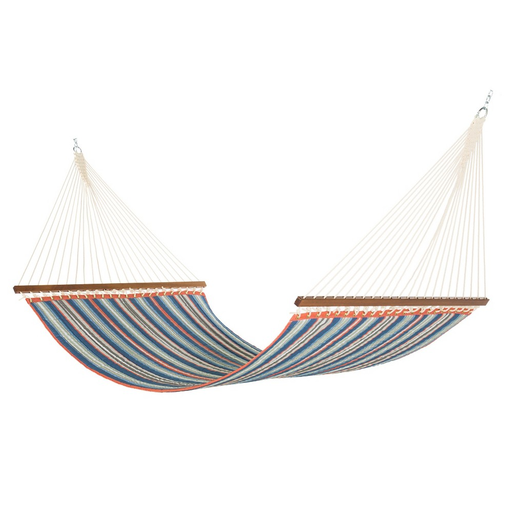Image of Key West Quilted Stripe Hammock - Blue