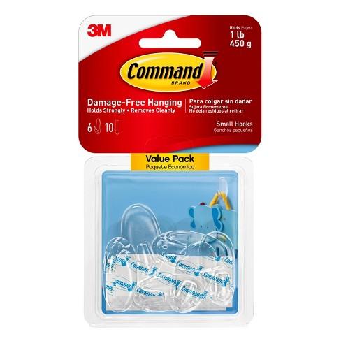 Command Mini Hook 6//Pkg-6 Clear Hooks /& 8 Strips