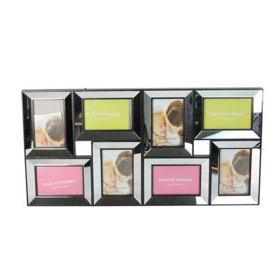 """Northlight 27.5"""" Black Trimmed Glass Encased Collage Photo Picture Frame Wall Decoration"""