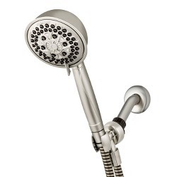 7 Mode Power Pulse Hand Held Single Shower Head Brushed Nickel - Waterpik
