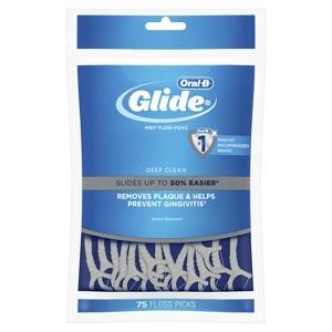 Oral-B Glide Pro-Health Deep Clean Floss Picks Clean Mint - 75ct