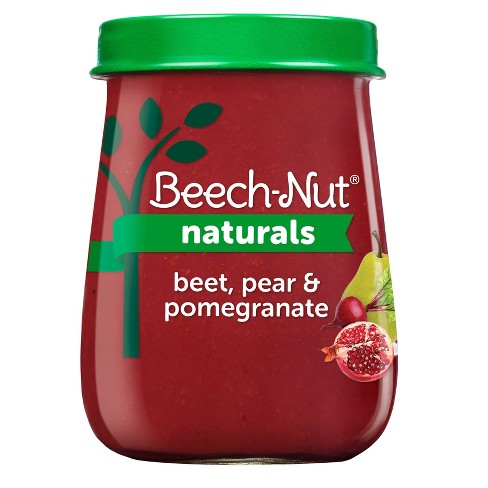 Beech-Nut Naturals Beets, Pear & Pomegranate Baby Food Jar - 4oz - image 1 of 4
