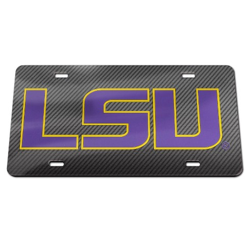 NCAA LSU Tigers Carbon License Plate Frame - image 1 of 1
