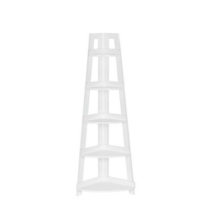 Five Tier Amery Collection Corner Ladder Shelf - RiverRidge Home