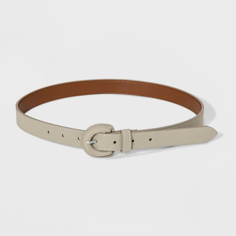 Women's Sueded cov Buckle Belt - Universal Thread Beige XL