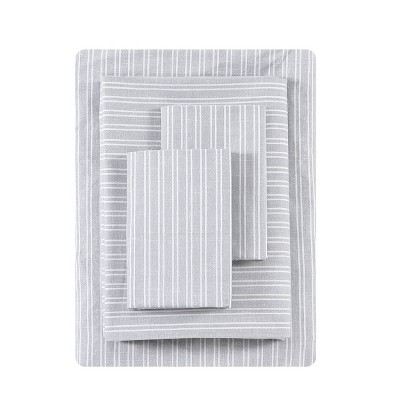 California King Printed Pattern Percale Sheet Set Linen Texture Stripe - ED Ellen DeGeneres