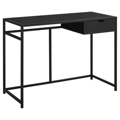 Wood and Metal Writing Desk with Drawers - EveryRoom