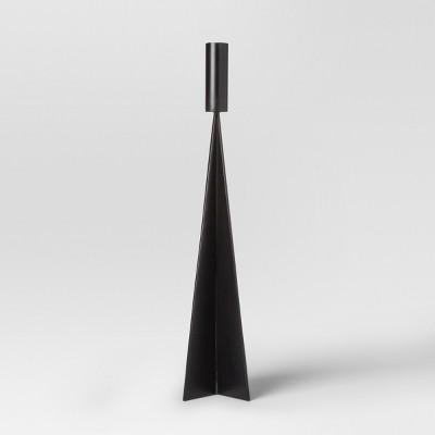 Angular Taper Candle Holder Medium - Black - Project 62™