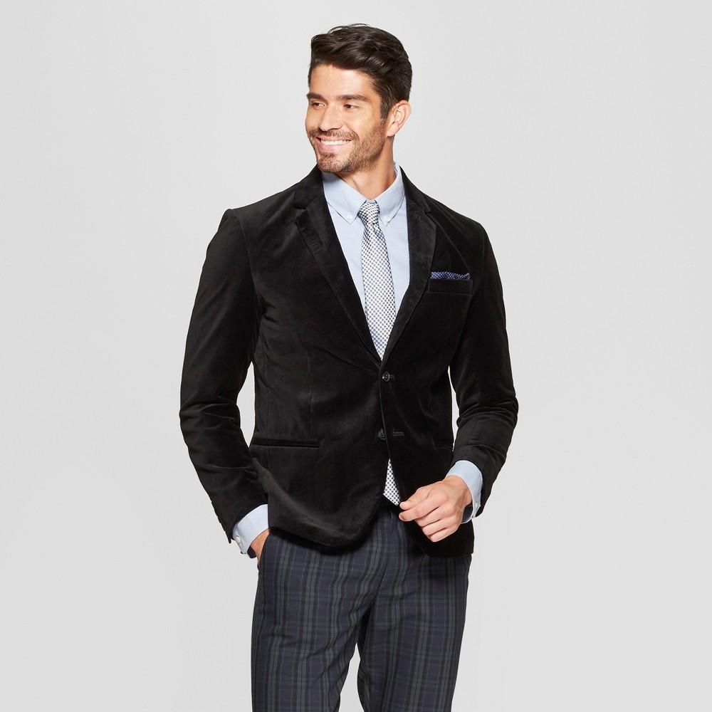Men's Velvet Blazer - Goodfellow & Co Black L