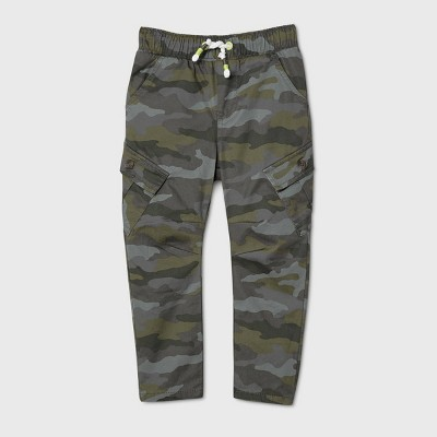 Toddler Boys' Lined Camo Pull-On Pants - Cat & Jack™ Green