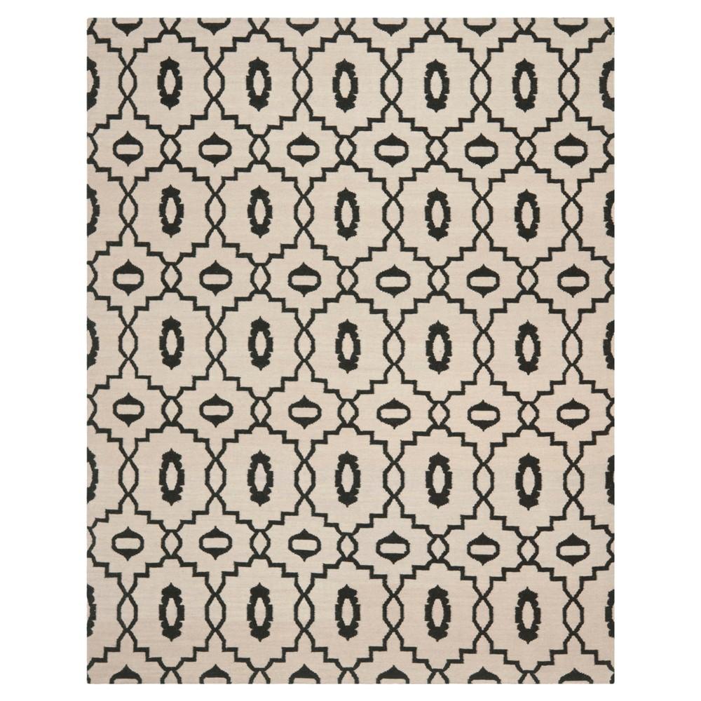 Mona Dhurry Rug - Ivory/Black - (8'x10') - Safavieh