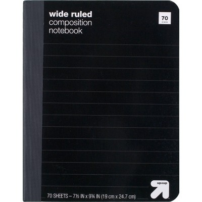 Wide Ruled Hard Cover Composition Notebook - up & up™