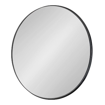 """22"""" Rollo Round Wall Mirror Black - Kate & Laurel All Things Decor"""