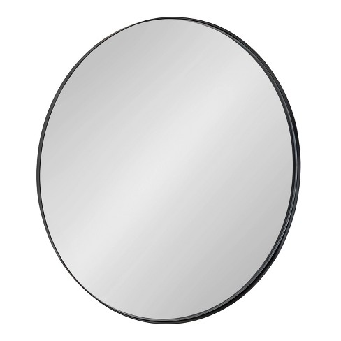 """28"""" Rollo Round Wall Mirror Black - Kate & Laurel All Things Decor - image 1 of 4"""