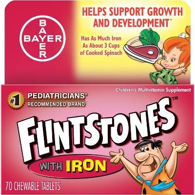 Flintstones Multivitamin Dietary Supplement Chewable Tablets - Mixed Fruit - 70ct