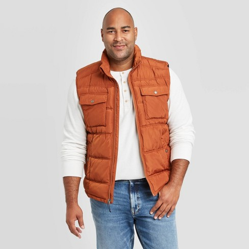 Men's Big & Tall Fullzip Midweight Puffer Vest - Goodfellow & Co™ - image 1 of 3