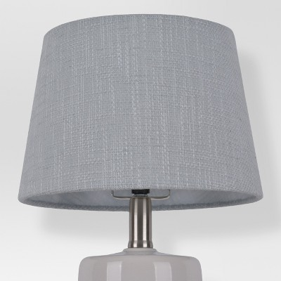 Thick Textured Lamp Shade Gray Small - Threshold™