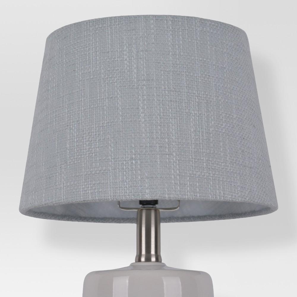 Image of Thick Textured Lamp Shade Gray Small - Threshold