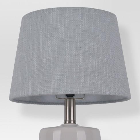 Thick Textured Lamp Shade Gray Small Threshold