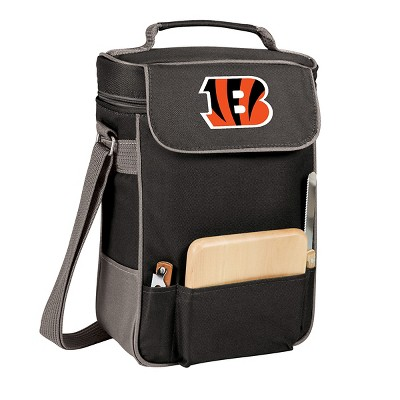 Picnic Time NFL Team Duet Wine and Cheese Tote - Black