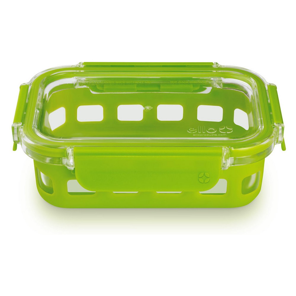 Image of Ello 1.75 cup Glass Food Storage Container, Spring Green