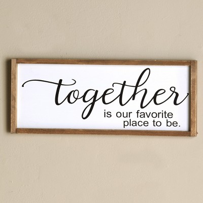 Lakeside Together is Our Favorite Place to Be Wall Art Picture - Home Sentiment Accent