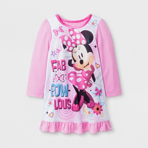2ac520a608 Toddler Girls  Minnie Mouse Nightgown - Pink   Target