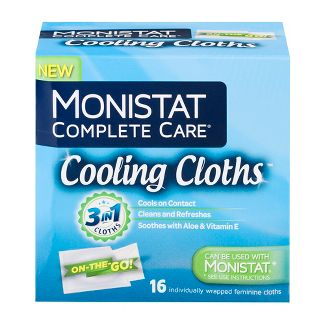 Monistat Care 3-in-1 Cooling Cloths, Cools & Soothes, Soothes with Aloe & Vitamin E, 16ct
