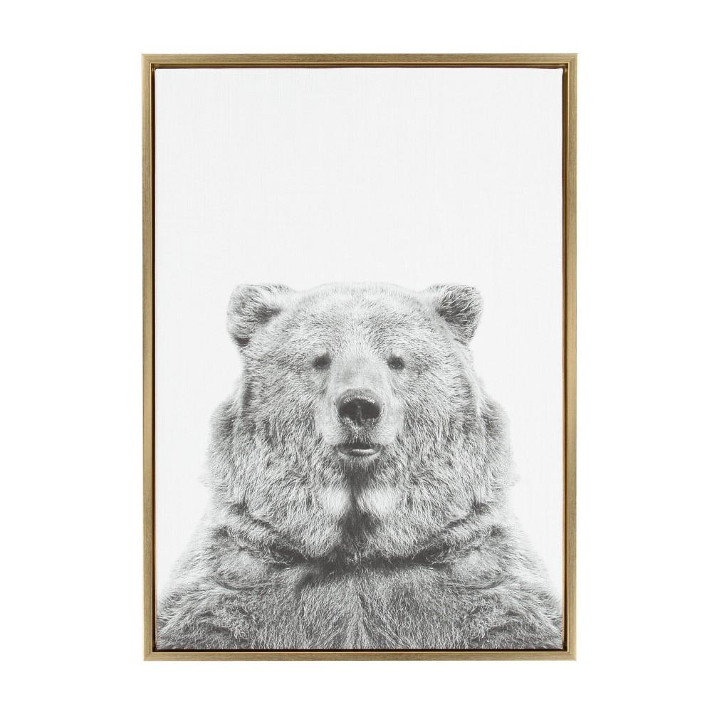 23 34 X 33 34 Sylvie Bear Framed Canvas By Simon Te Tai Gold Kate And Laurel