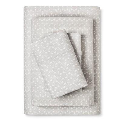 Flannel Sheet Set (Queen)Gray Geo Print - Threshold™